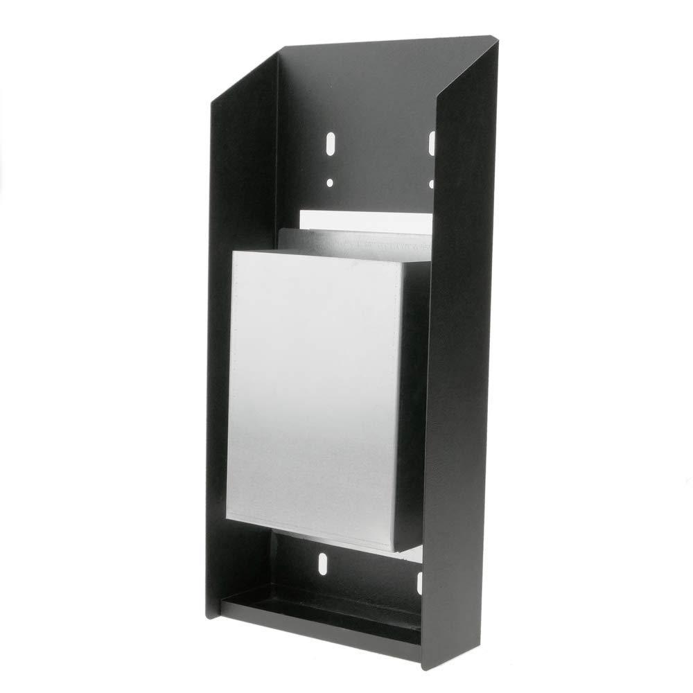 PrimeMatik Cenicero de Pared para Exterior de Metal Negro 147 x 60 x 324 mm