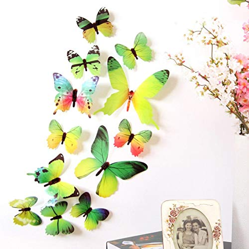 12 PCS 3D PVC Magnet Butterflies DIY Wall Stickers