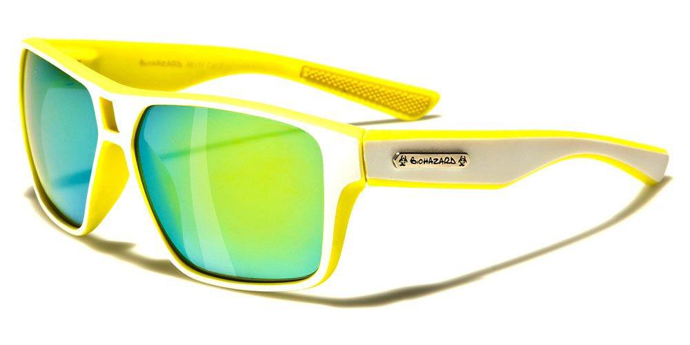Biohazard Lunettes de Soleil - Mode - Sport - Cyclisme - Ski - Vtt - Running - Moto / Mod. Meribel Orange VQGK19O