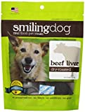 Herbsmith Smiling Dog Dry Roasted Beef Liver Treats for Dogs and Cats, 3-Ounce