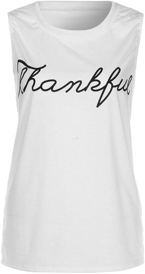 VENMO Frauen Crop Tops Weste Drucken Brief Sleeveless Tank Tops Bluse T-Shirt Longshirt Hemd Damen Frau Spitzenbesatz Quasten Kordelzug Sleeveless Tank Tops Damen Lady-Fit Vest Tank
