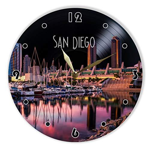 MiraG San Diego Painted Vinyl Clock 12