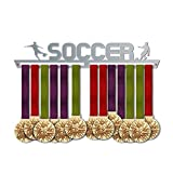 Soccer Medal Hanger Display V2   Sports Medal Hangers   Stainless Steel Medal Display   by VictoryHangers - The Best Gift for Champions !