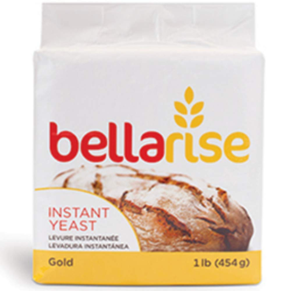 Bellarise (Gold) Instant Dry Yeast - 1 LB Rapid-rise Instant Yeast for Bread