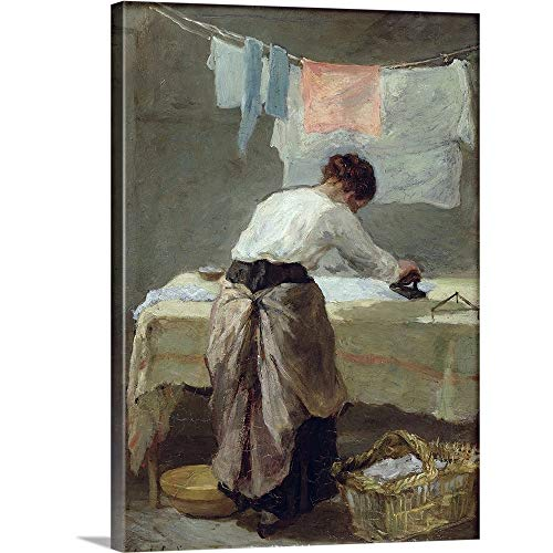 GREATBIGCANVAS Gallery-Wrapped Canvas Entitled Woman Ironing by Armand-Desire (1825-1894) Gautier 45