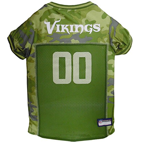 NFL Minnesota Vikings Camouflage Dog Jersey, Medium. - CAMO PET Jersey Available in 5 Sizes & 32 NFL Teams. Hunting Dog Shirt