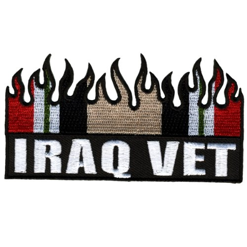 Hot Leathers Iraq Vet Flag Patch (4