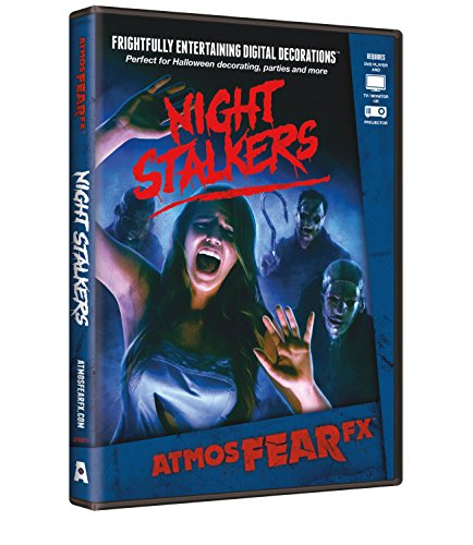 (AtmosFX Night Stalkers Digital Decorations DVD for Halloween Holiday Projection)