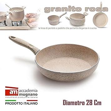 Sartén 28cm antiadherente de efecto piedra Diamond Tech -GRANITO ROSA: Amazon.es: Hogar