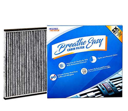 Spearhead Premium Breathe Easy Cabin Filter, Up to 25% Longer Life w/Activated Carbon (BE-132)