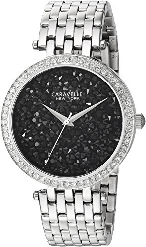 Caravelle New York Women's 43L199 Swarovski Crystal Stainless Steel Watch