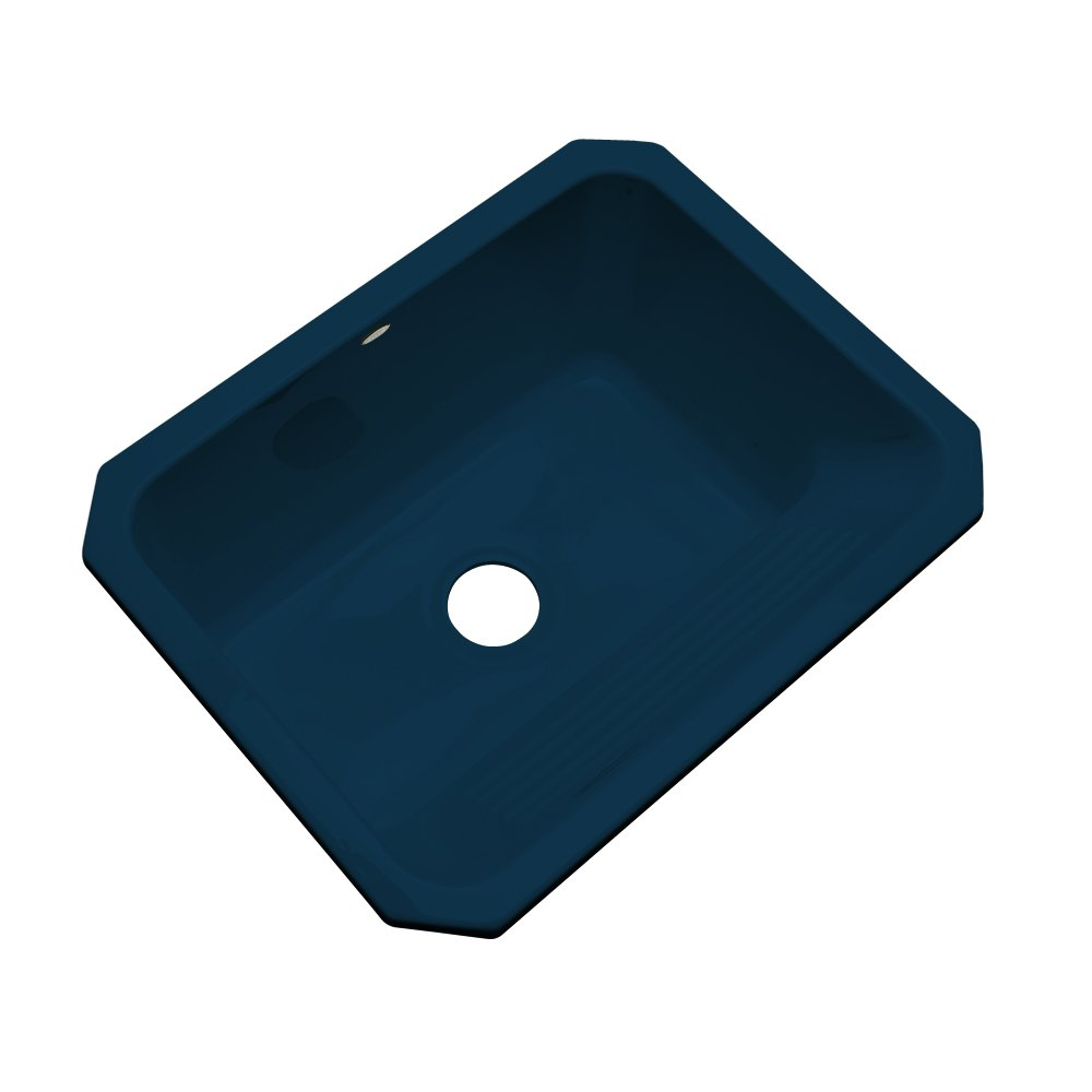 Dekor Sinks 31020UM Richfield Cast Acrylic Single Bowl Undermount Utility Sink, 25'', Navy Blue