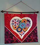 Textile Wall Art - ''GARDEN of LOVE''