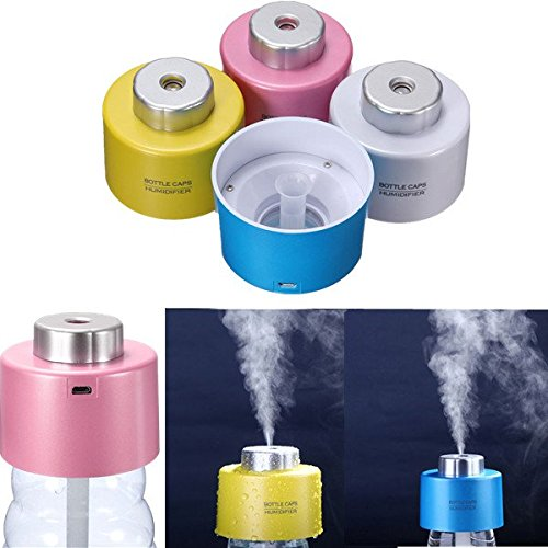 RoseBlue by Risa Mini Portable Bottle Cap Air Humidifier with USB Cable for Office