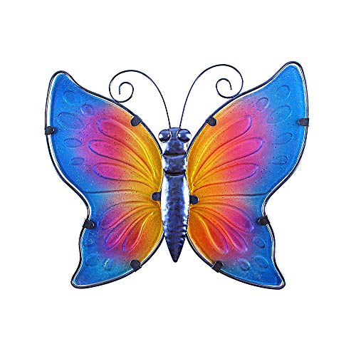 Liffy Metal Dragonfly Wall Decor Outdoor Hanging Art Blue for Living Room Bedroom