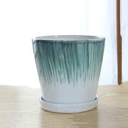 Amazon.com: Thwarm - Maceta de cerámica para decoración de ...