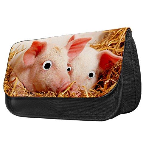Pig Googley Augen Tier Bleistift Fall/Make-up Tasche 230 zJakJ