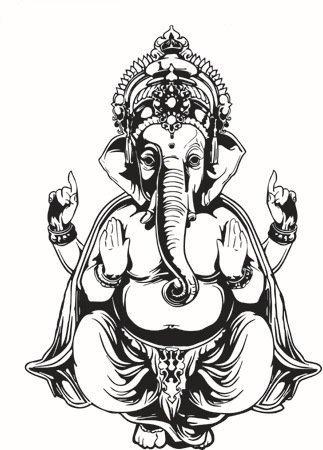 Pegatina de pared vinilo elefante yoga color negro: Amazon ...