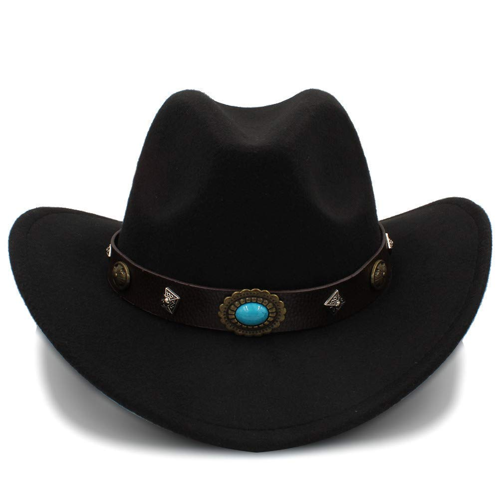 Kinue New Western Cowboy Hat for Men and Women Outdoor Big Brim Caps Solid Jazz Hats Size 56-58cm Dropshipping Very Soft by Kinue