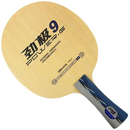 DHS POWER.G9 (PG9, PG 9) 7-Ply OFF++ Table Tennis Blade for Ping Pong Racket, Long(shakehand)-FL by DHS
