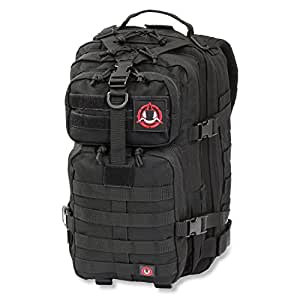 Orca Tactical SALISH 34L MOLLE Army Military Backpack Bug Out Bag Rucksack Assault Pack ... (Black)