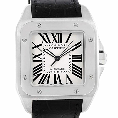 Cartier Santos automatic-self-wind mens Watch W20073X8 (Certified Pre-owned)