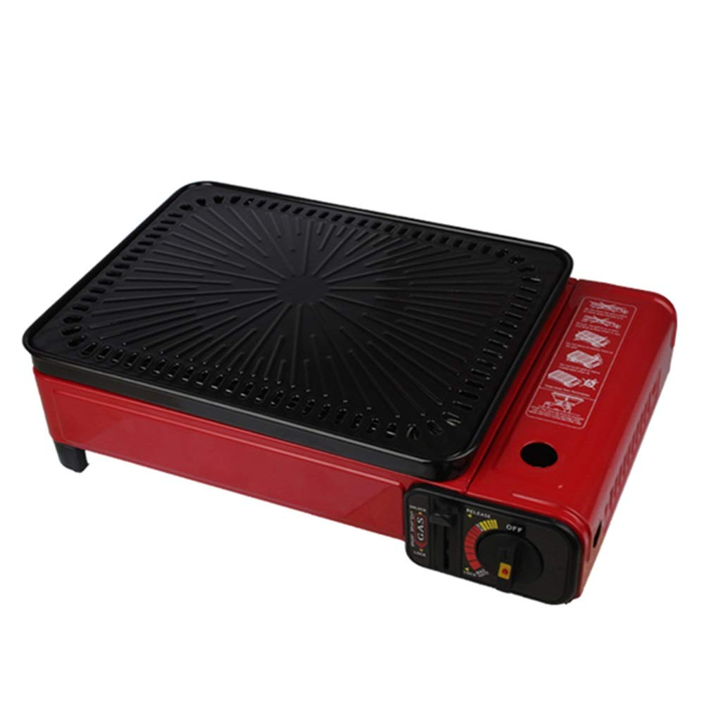 Byx- Griglia per Esterno - Griglia Multifunzione per Esterno Portatile Griglia per Gas Domestica Senza Fumo Griglia per Gas liquefatto Senza Fumo -griglia Barbecue (colore   Rosso)