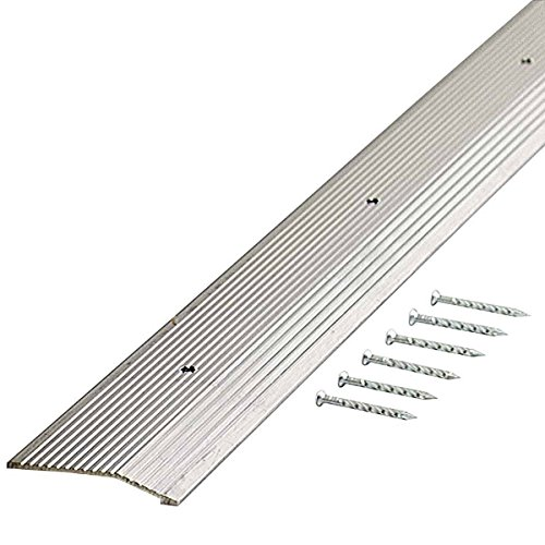 M-D Building Products 78212 Extra Wide Fluted 2-Inch by 36-Inch Carpet Trim, Silver from M-D Building Products