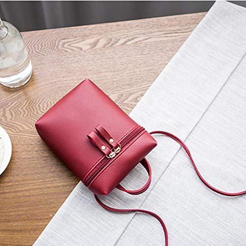 BLACK Zipper Bafaretk Crossbody Messenger Small Bag Solid Bag RED Womens Bags Bag Shoulder Fashion 7qfwFfz