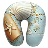 Neck Pillow With Resilient Material Wood Seashells Sea U Type Travel Pillow Super Soft Cervical Pillow