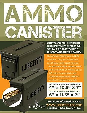 Liberty Safe Ammo Cannister Storage Box