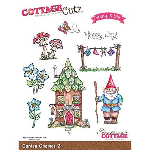Cottagecutz Stamp & Die Set-Garden Gnomes 2 ()