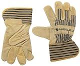 Carhartt Men's Suede Work Glove with Safety Cuff, Brown, Small