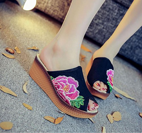 Dans Talon Pente Nouvelles black Vieux Chaussures À National Ouitouche Chaussures Pantoufles KHSKX De Bouche Le Pékin Les wzI8xqnA