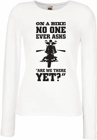 lepni.me Camisetas de Manga Larga para Mujer Famosas Citas de Motocicletas, Regalos para los Amantes de Las Motos, Humor de Motociclistas