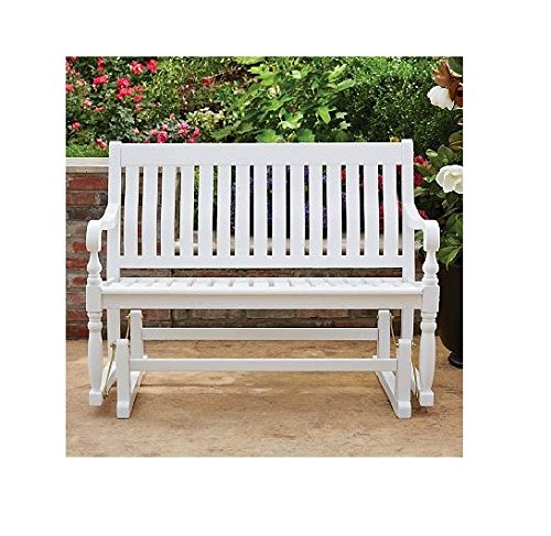 Back 4' Glider Bench (Member's Mark Painted Wood Glider Bench (White))
