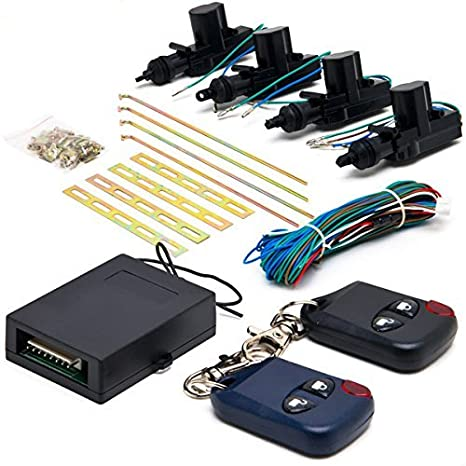 amazon com: biltek cx-402 conversion kit (universal central lock and unlock  for 2, 3, 4 car truck doors 4 actuators): automotive