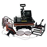 8 in 1 Multifunction Sublimation T-Shirt Mug Hat Plate Cap Heat Press Machine 1200W Transfer Sublimation Hat Mug Cap Plate 15