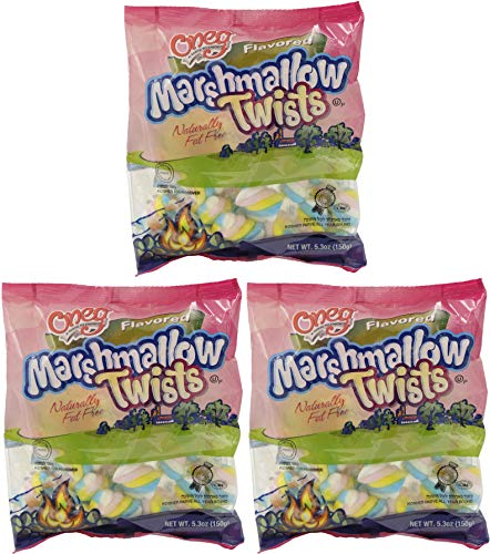Marshmallows Twists Flavored Kosher For Passover, Naturally Fat-Free - (Marshmallow Twists, 3-Pack) ()