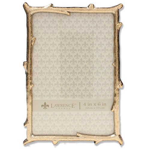 Lawrence Frames 4x6 Gold Metal Natural Branch Design Picture Frame