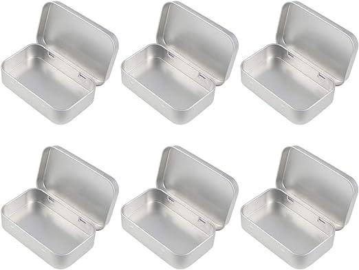 Healifty 6 Piezas Pequeñas Latas de Metal Latas Contenedores ...