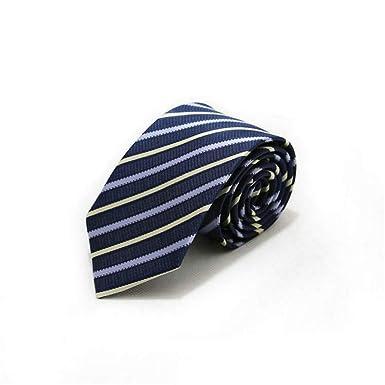 MSYQ Tie46 Color 7 Cm Corbata para hombre Lunares a rayas Corbata ...