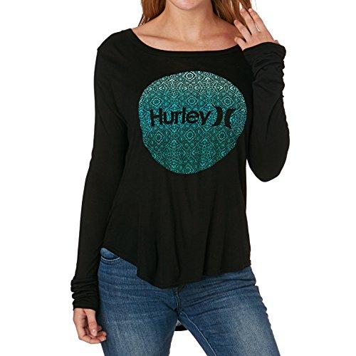 Hurley Long Sleeve T-Shirts - Hurley Krush Live Classic Long Sleeved Tee - Black