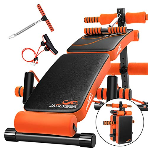 YXGH- Adjustable Sit Up AB Bench, Foldable Decline Bench with Reverse Crunch Handle for Home Gym Ab Exercise,Multi-Functional Fitness Equipment Sporting Goods