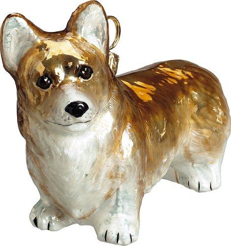 Joy to the World Collectibles European Blown Glass Pet Ornament, Pembroke Welsh Corgi