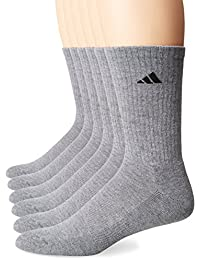 Mens Athletic Cushioned Crew Socks (6-Pack)