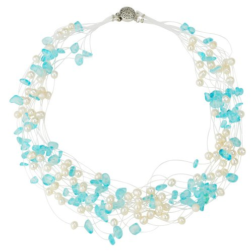[Jane Stone Hot Pearl Statement Necklace for Women 2016 New Wholesale] (Hot Costumes For Teens)
