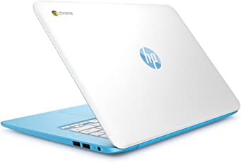 hp- Laptop 14-AK020NR (Energy Star) Chrome Celeron 16GB eMMC 2GB ram Azul-Blanco Reacondicionado (Certified Refurbished)