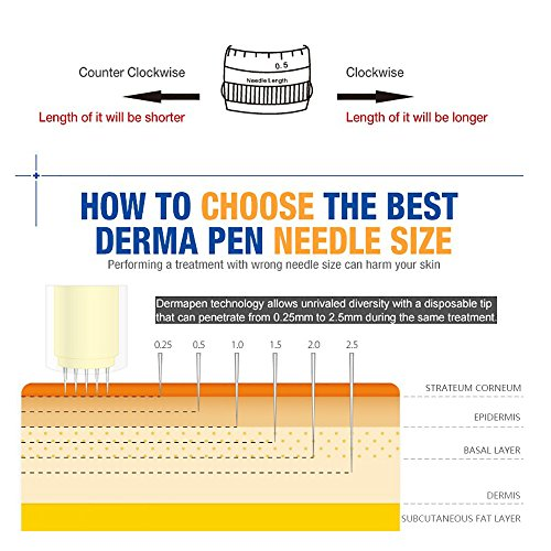 A6 Dr Pen Replacement Parts 10 Pcs Cartridges Needles (36 Bayonet Slot)