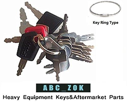 16 Keys Heavy Equipment Key Set / Construction Ignition Keys Set